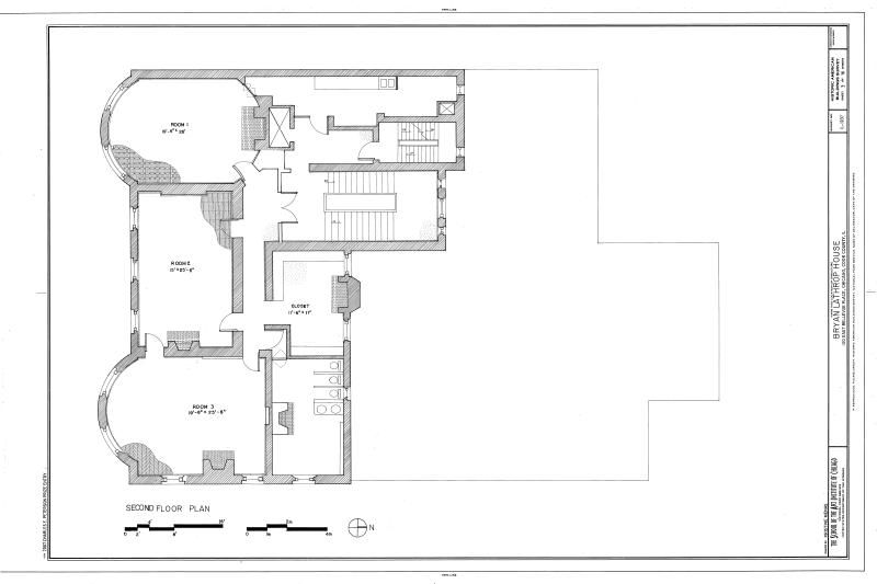 Second Floor Plan Bryan Lathrop House East