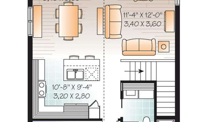 Second Floor Plan Garage Great House Above