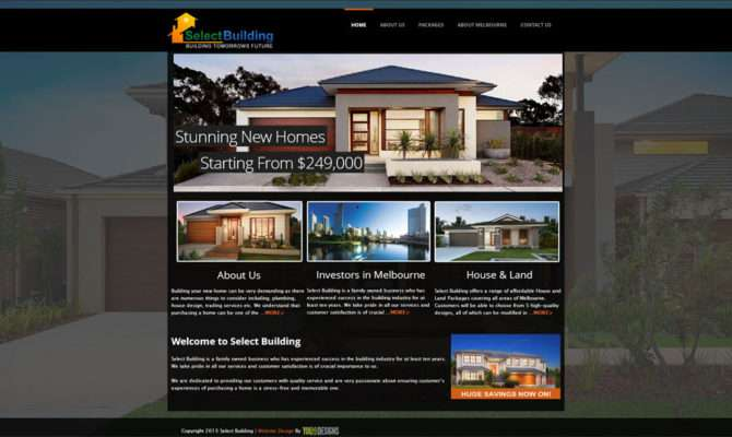 Select Building Website Design House