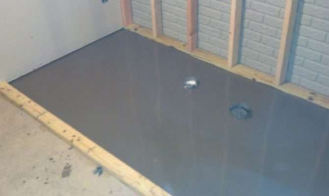 Self Leveling Conrete Down Spread Now Time Let Its