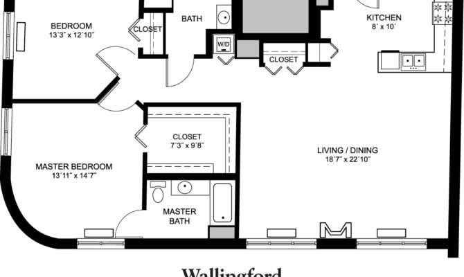 Senior Apartment Floor Plans Whitney Center