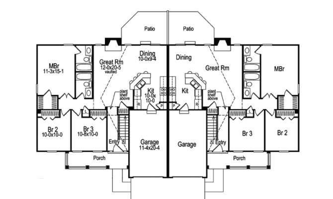 Shadydale Multi Duplex Plan House Plans