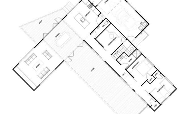 Shaped House Plans Adelaide Modern Plan