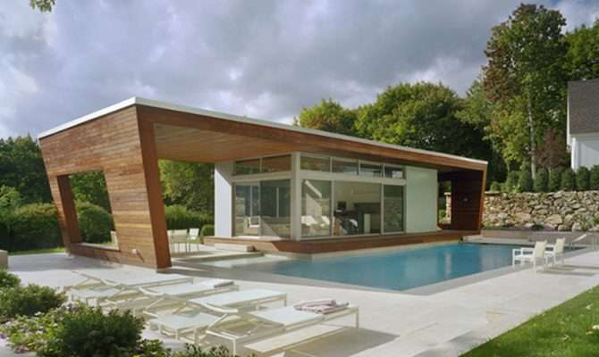 Shaped House Plans Pool Middle Home Design