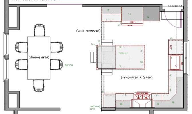 Shaped Kitchen Floor Plans Design Ideas