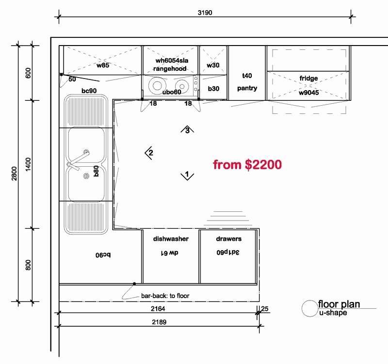 Shaped Kitchen Floor Plans Elegant