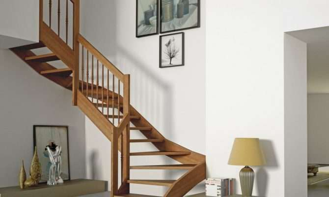 Shaped Self Supporting Wooden Cantilevered Staircase Oxa