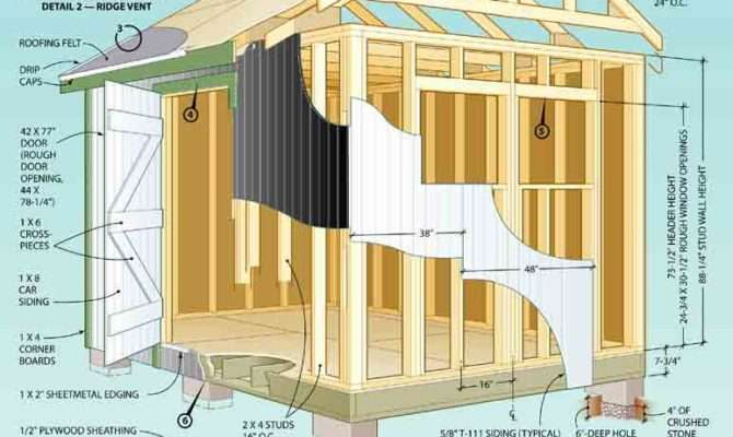 Shed Plan Designs Building Wooden Storage