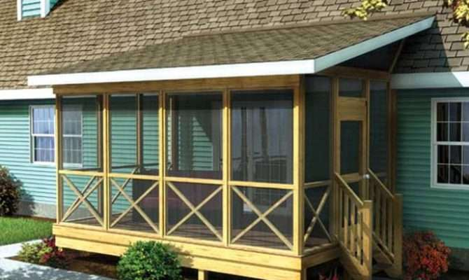 Shed Style Porch Roof