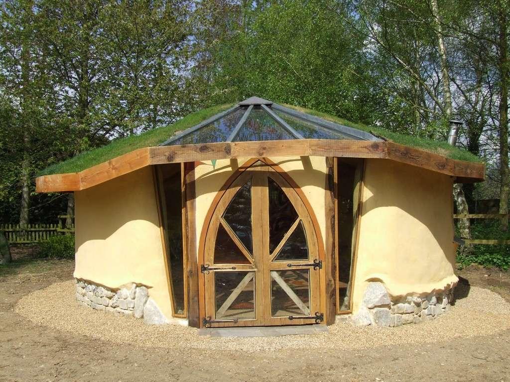 Shedworking Reclaimed Chapel Doors Used Cob Garden Studio