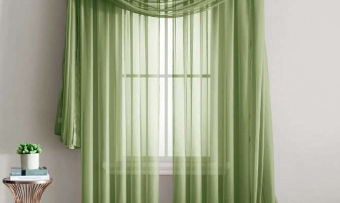 Sheer Curtain Panels Ease Bedding Style