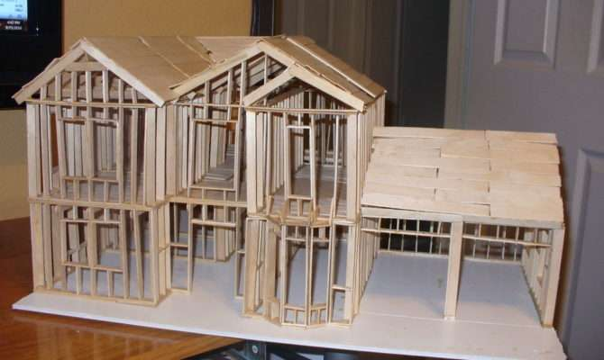 Show Build Scale Model House Way Cut