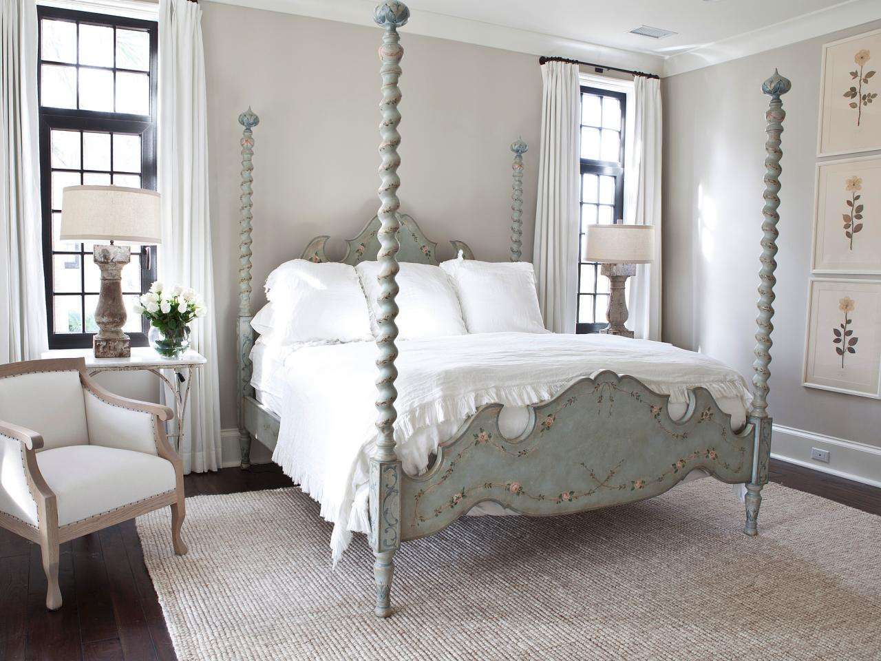 Showing Grey French Country Bedroom