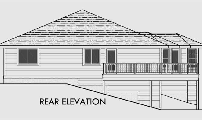 Side Sloping Lot House Plans Walkout Basement