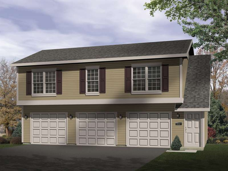 Sidney Large Apartment Garage Plan House Plans