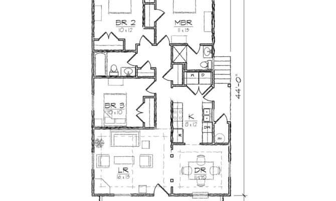 Simple Bungalow Floor Plans Homes