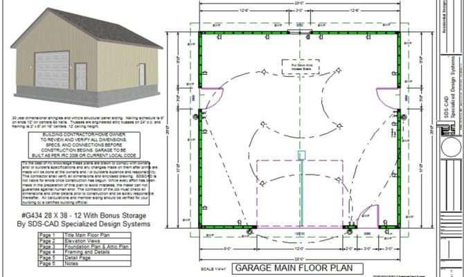 Simple Car Garage Plans