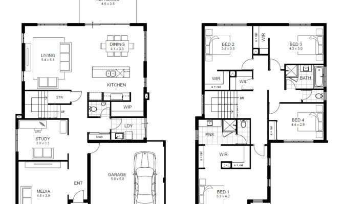 Simple Double Story House Plans Home Deco