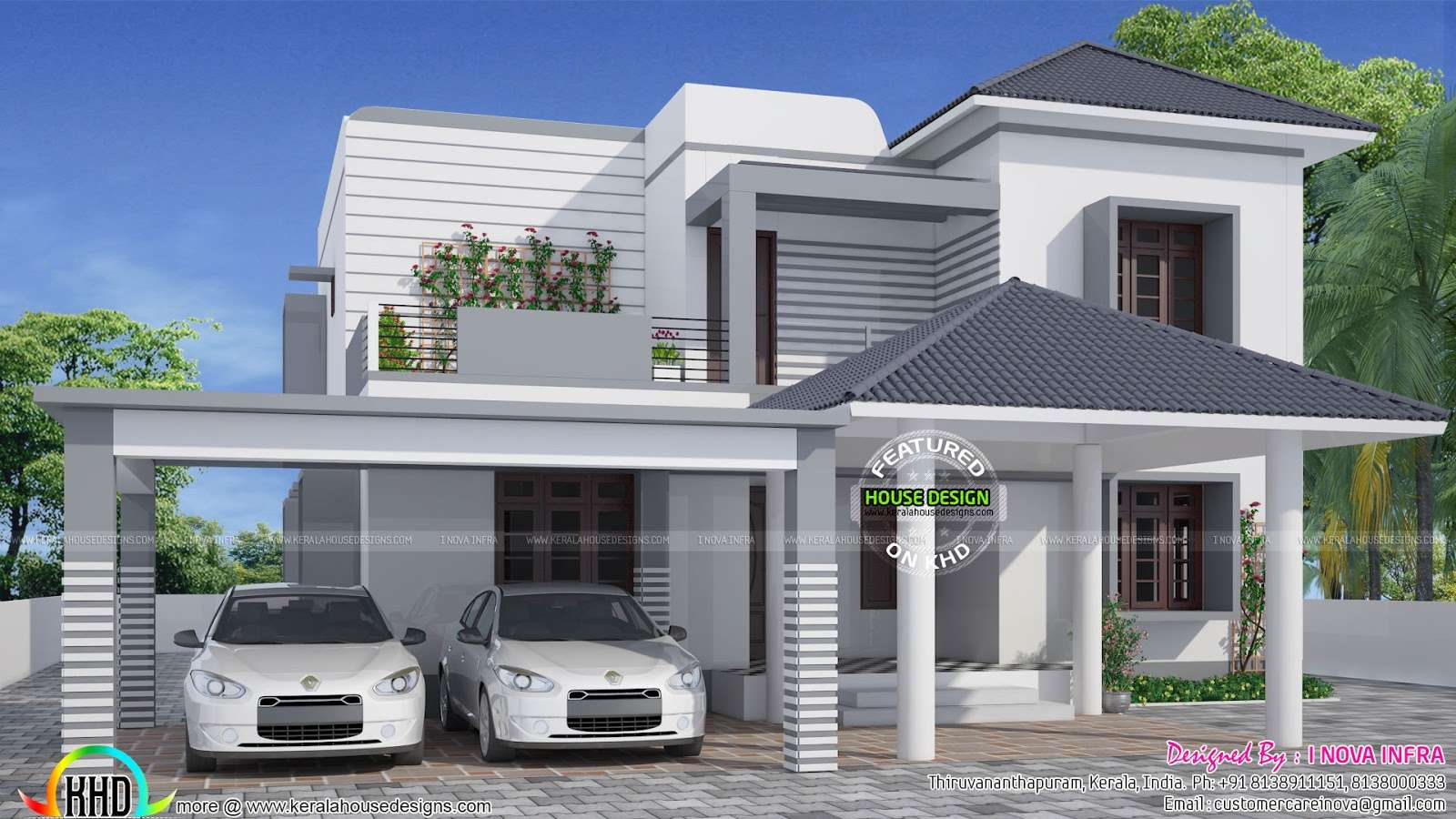 Simple Elegant Modern House Kerala Home Design