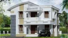 Simple Flat Roof Home Design Feet Kerala Plans