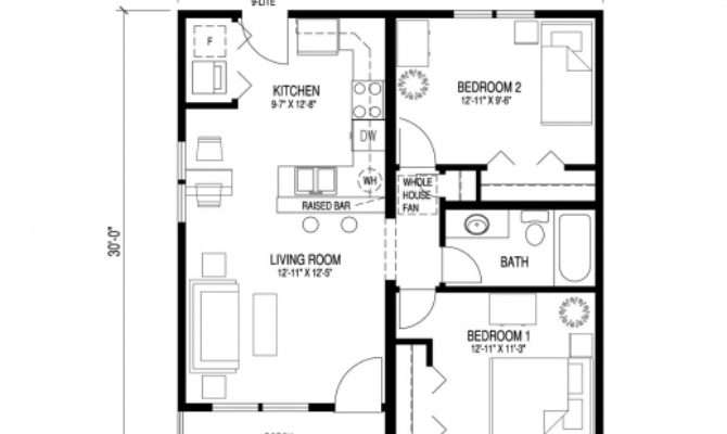 Simple Floor Plan Bungalow House Plans