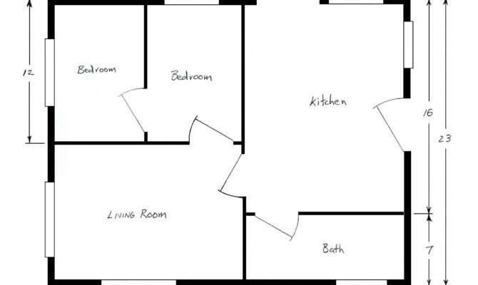 Simple Floor Plan Elegant Blank House Template