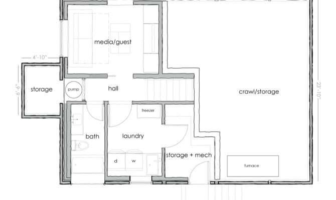 Simple Floor Plans Basement Basic Open