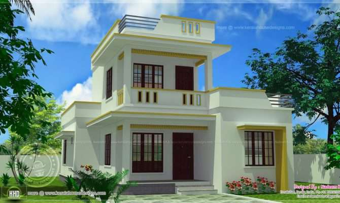 Simple Flt Roof Home Design Feet Indian House Plans