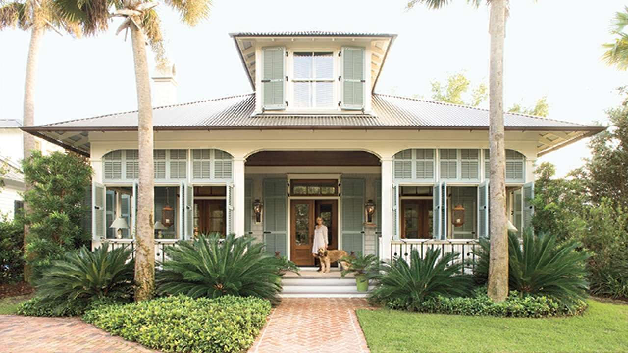Simple Front Porch Plans Southern Beach Cottage House