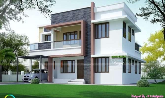 Simple Home Plan Modern Style Kerala Design Floor Plans