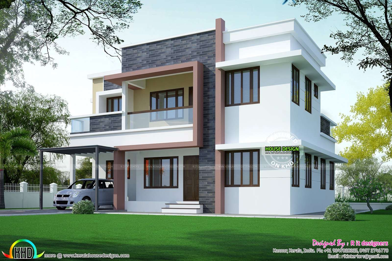 Simple Home Plan Modern Style Kerala Design Floor Plans