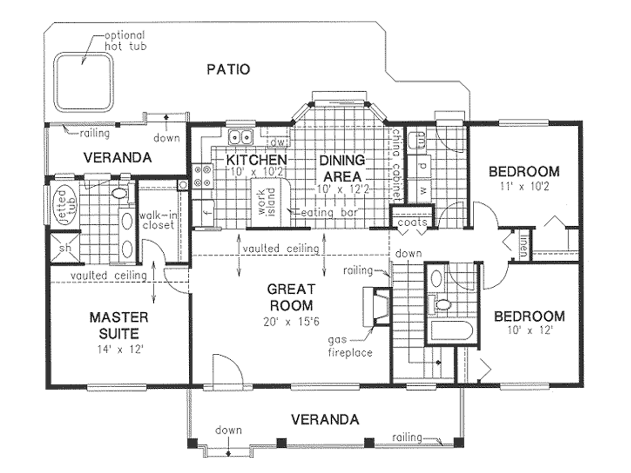 Simple Home Plans Main Floor Plan