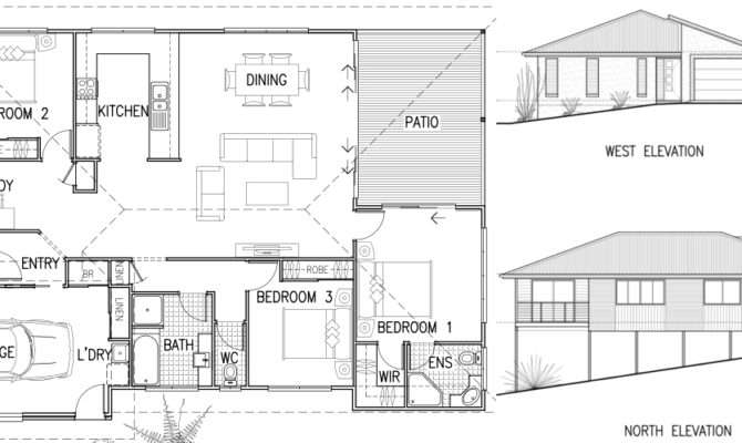 Simple House Design Plan Elevation Section Joy Studio