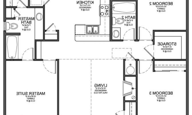 Simple House Floor Plan Design Escortsea Your Own