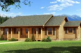 Simple Log Homes Plans Featured Floorplan Bay Minette Southland