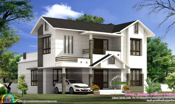 Simple Modern Home Kerala Design