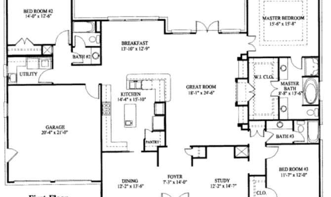 Simple One Story House Plan Plans Pinterest