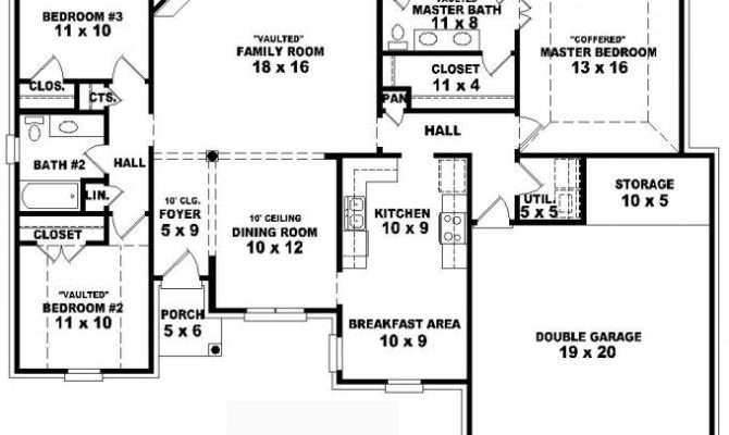 Simple One Story House Plans