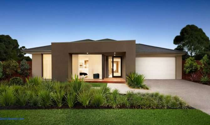 Simple One Story Modern House Single Home Designs