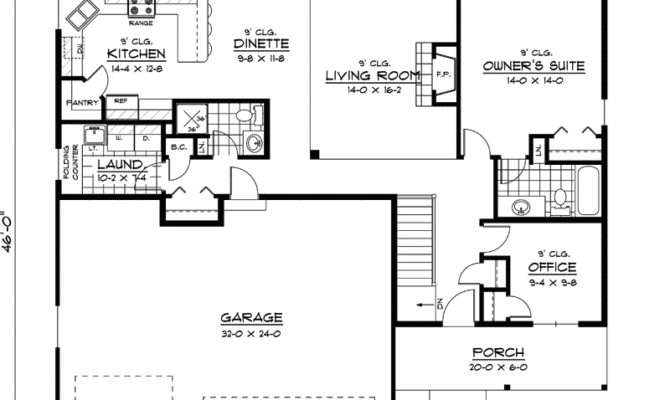 Simple Ranch House Plans Country Plan First Floor