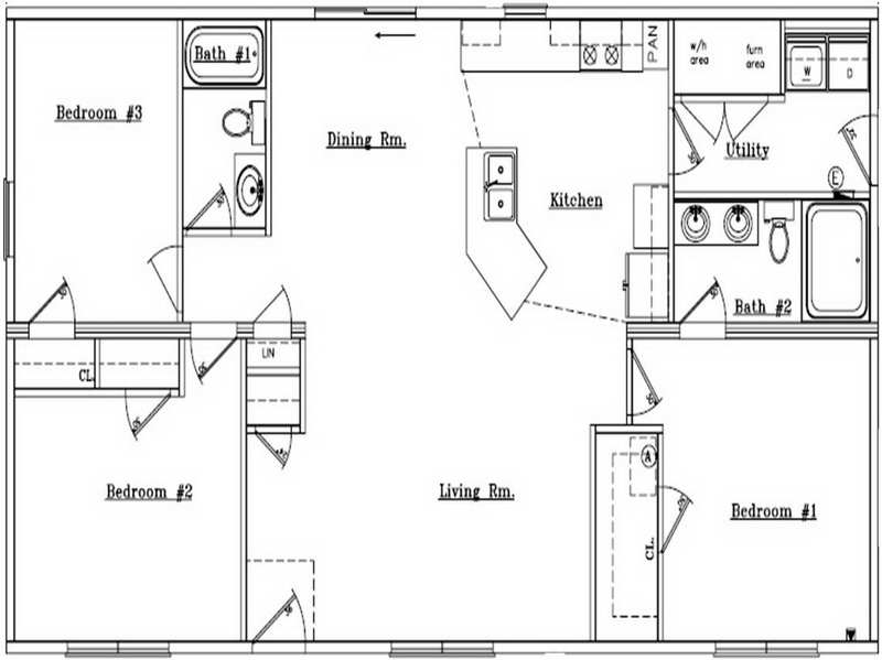 Simple Ranch House Plans Home Floor