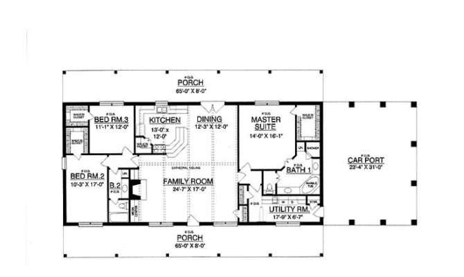 Simple Rectangle Shaped House Plans
