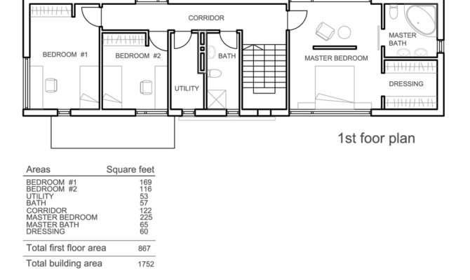 Simple Rectangular Bedroom House Plans Savae
