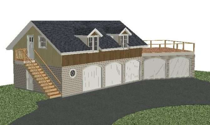 Simple Separate Garage Placement House Plans