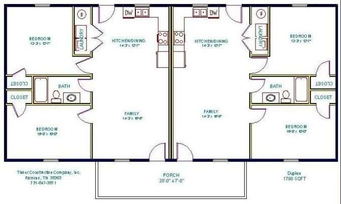 Simple Small House Floor Plans Floorplan Duplex Multi