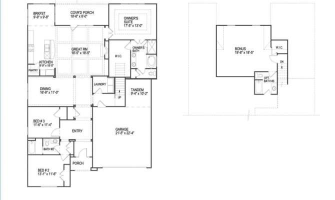Simple Split Bedroom Floor Plans Also Ranch Plan Modern