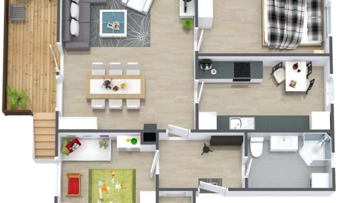 Simple Two Bedroom House Plan Can Incorporate Just Enough Space