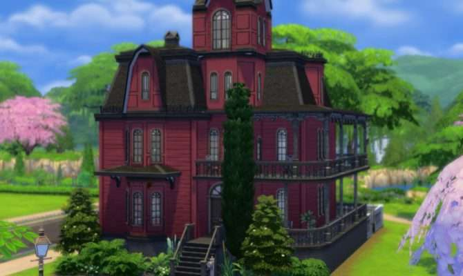Sims Blog Alternate Goth Mansion Plasticbox