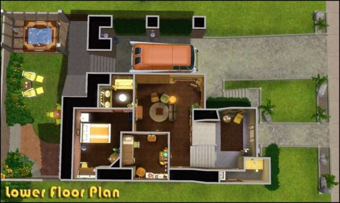 Sims Blog Retro Realty Modern Home