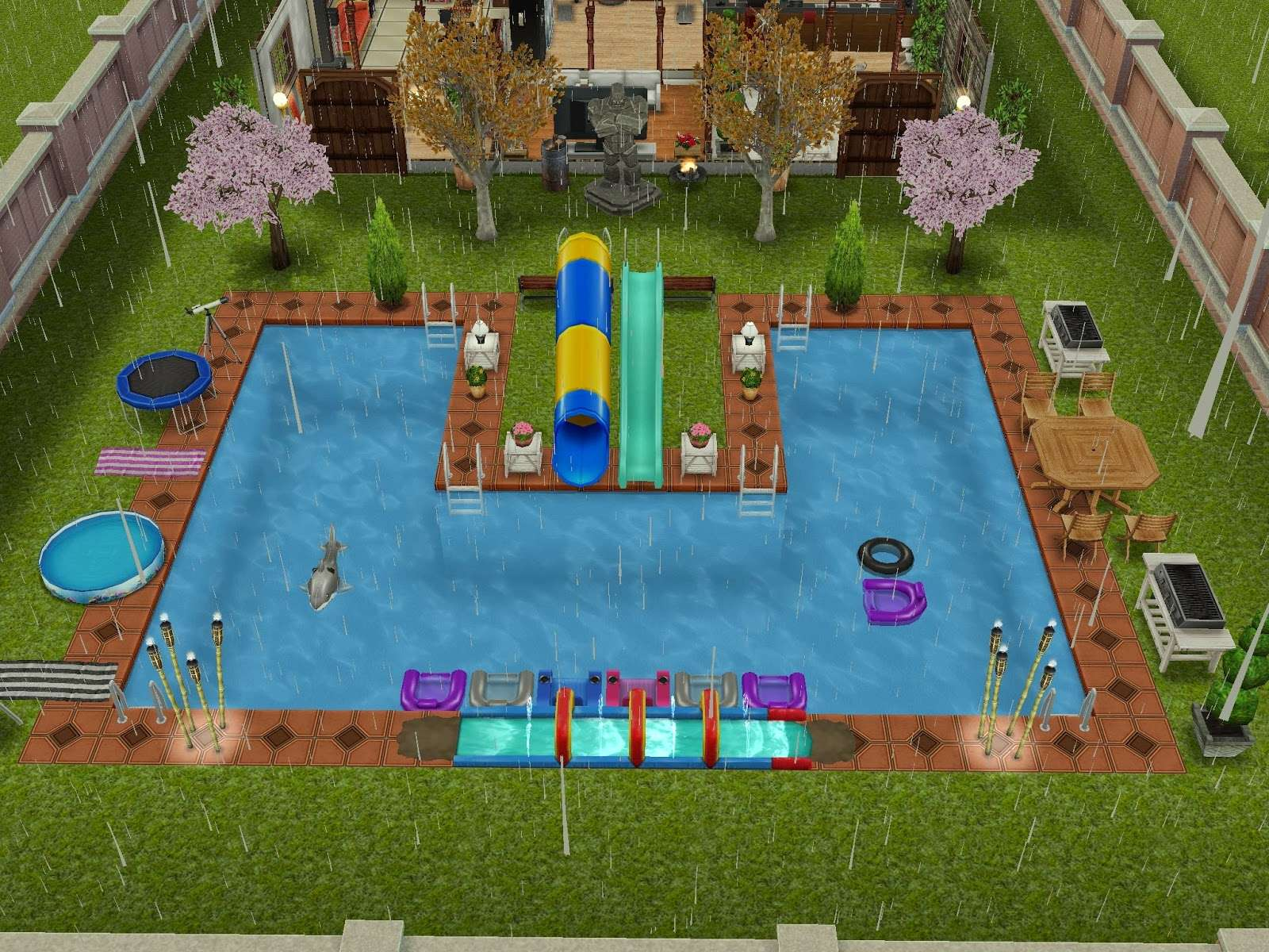 Sims Freeplay Pool Ideas Wood Working Project Woodworking Table